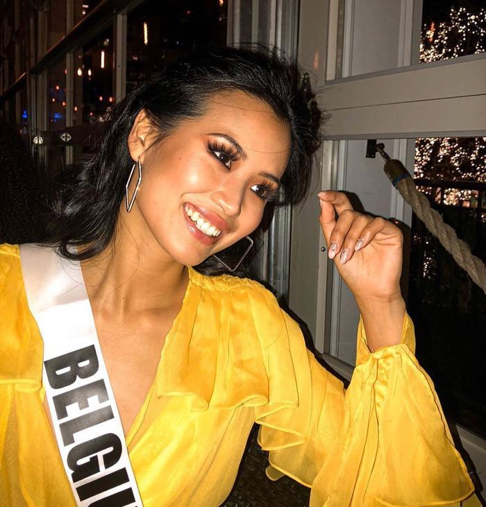 Đại diện Bỉ tại Hoa hậu Hoàn vũ năm nay –Angeline Flor Pua.