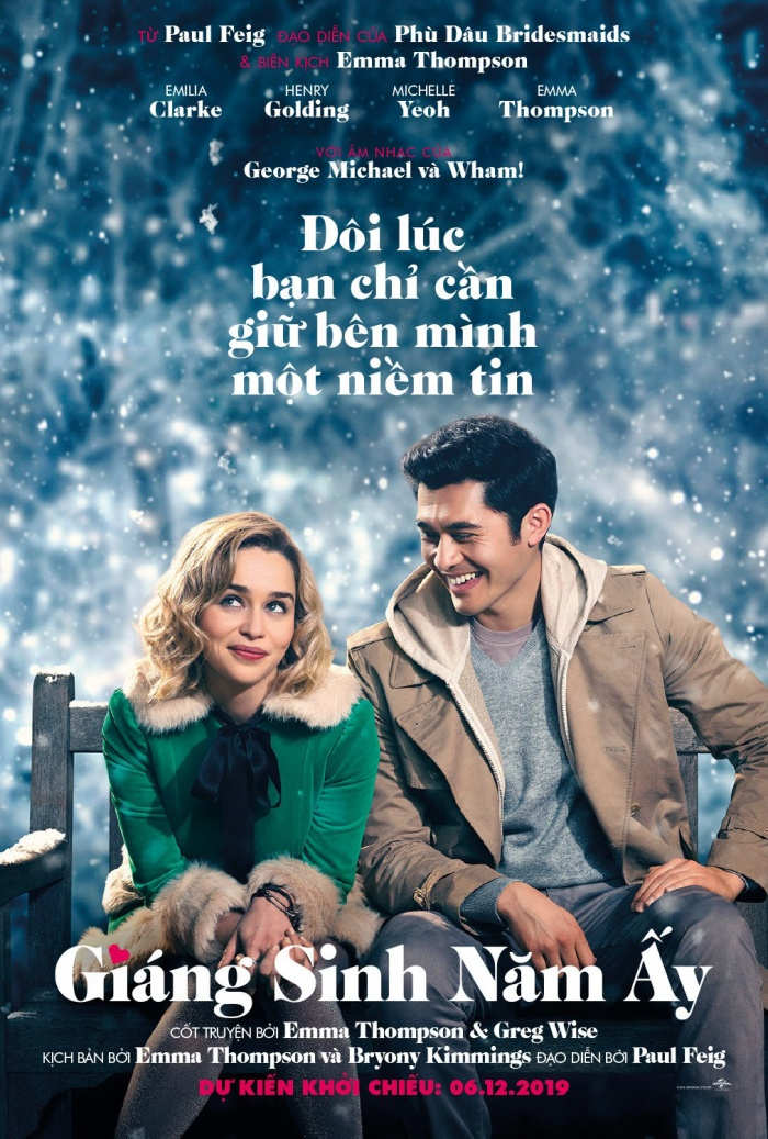 Poster chính thức của Last Christmas - Giáng Sinh năm ấy tại Việt Nam.