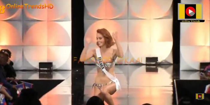 Hoa hậu Hoàn vũ Pháp trượt ngã ở phần thi Bikini: Fan xót xa trách Sân khấu Bán kết quá tệ! ảnh 0