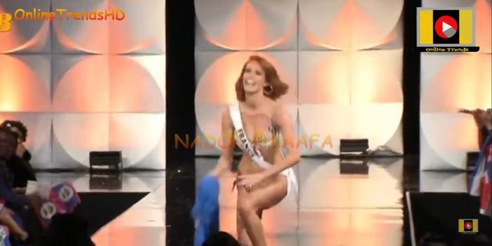 Hoa hậu Hoàn vũ Pháp trượt ngã ở phần thi Bikini: Fan xót xa trách Sân khấu Bán kết quá tệ! ảnh 3