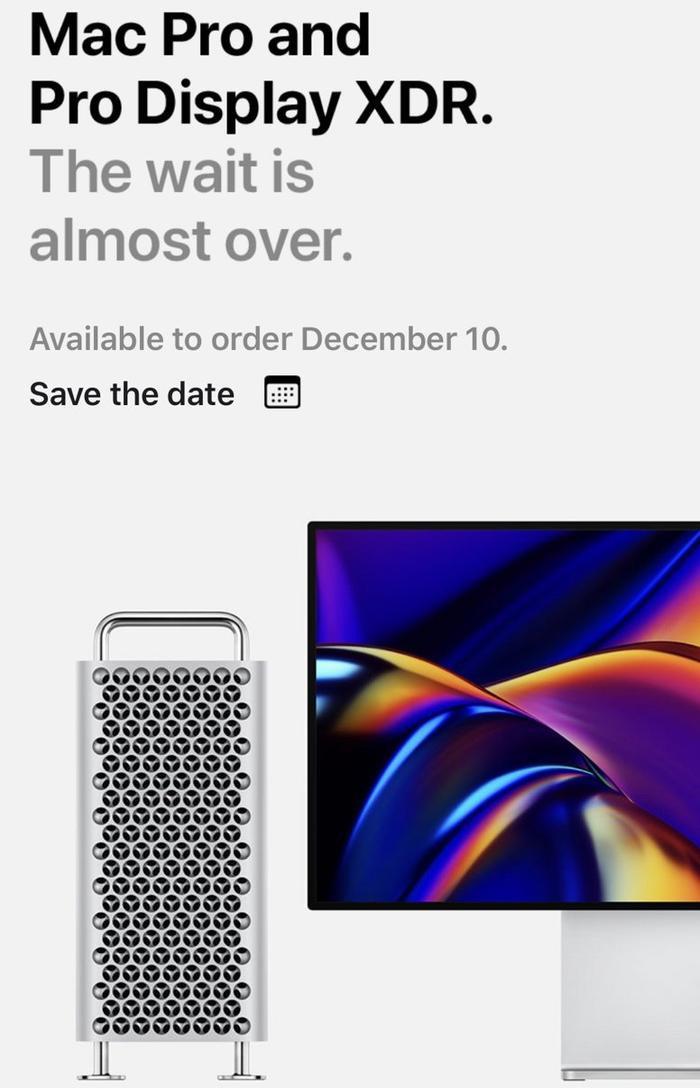 Nội dung email Apple gửi đi mới đây xác nhận về thời điểm Mac Pro sẽ được bán ra. (Ảnh: Macrumors)