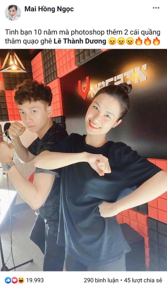 Đông Nhi cũng chia sẻ một bức ảnh khác cùng Ngô Kiến Huy trong phòng thu, phải chăng cả 2 đang thực hiện một sản phẩm âm nhạc nào đó?