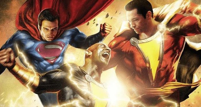 Shazam trong nguyên tác hoạt hình đã phải nhờ đến Superman để có thể đấu với Black Adam