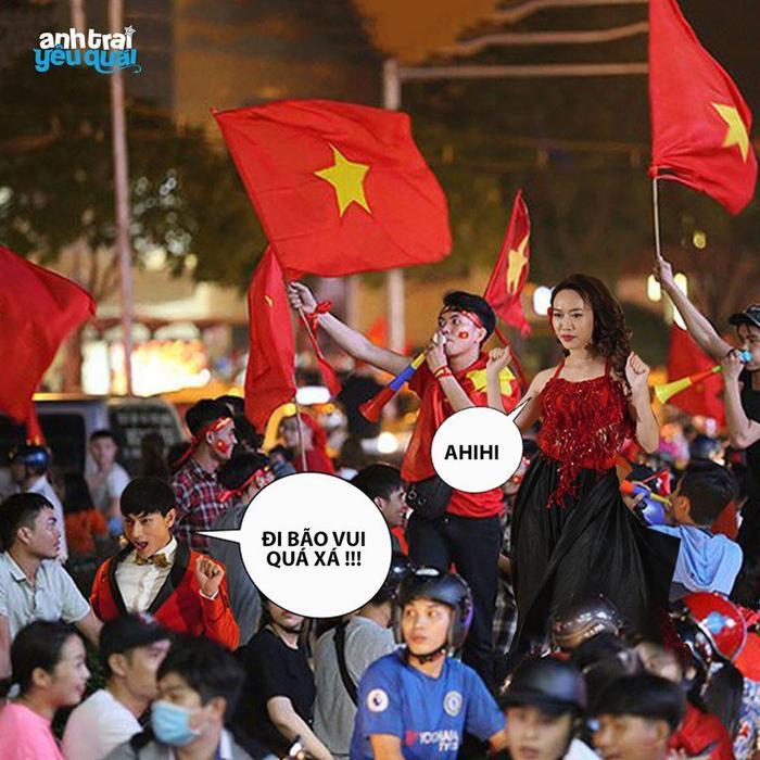 Thầy trò Noo Phước Thịnh  Ngọc Ánh ủng hộ U22 Việt Nam, Diệu Nhi  Kaity Nguyễn hòa cùng sắc đỏ chung kết SEA Games 30 ảnh 8