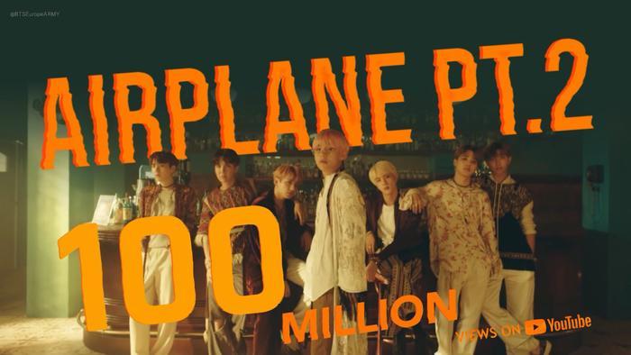 'Airplane Pt.2' đạt 100 triệu view giúp BTS nâng tổng MV cán mốc lượt xem ấn tượng này lên con số…