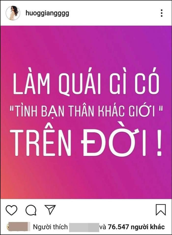 Trước đó khi ra mắt sản phẩm mới, Hương Giang cũng từng chia sẻ dòng trạng thái tương tự.