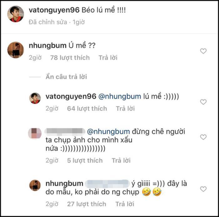 Đây cũng là lần hiếm hoi, Nhung Bum vào bình luận trong ảnh của bạn trai
