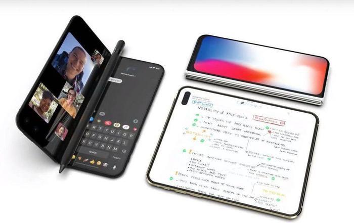 Chiếc iPhone với màn hình dẻo do Ben Geskin thiết kế. (Ảnh: Twitter)