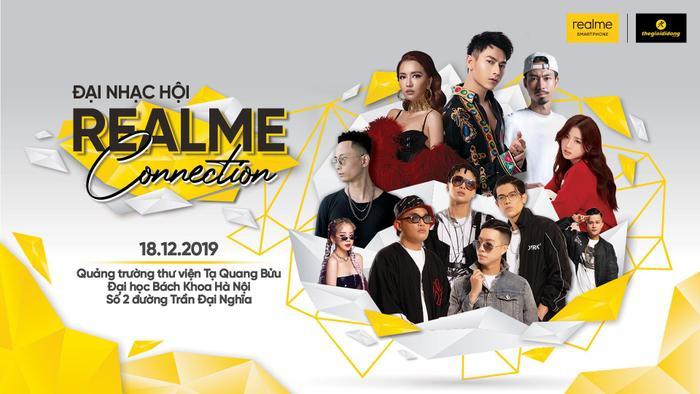 Đại tiệc Công nghệ – Âm nhạc Realme Connection dành riêng cho những bạn sinh viên tại Hà Nội.