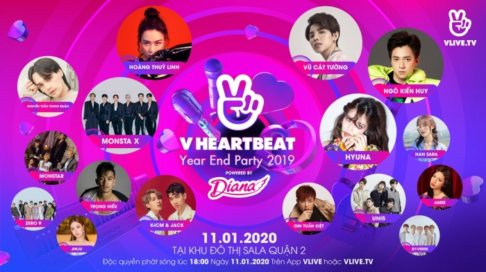 Sự kiện V Heartbeat Year End Party 2019.
