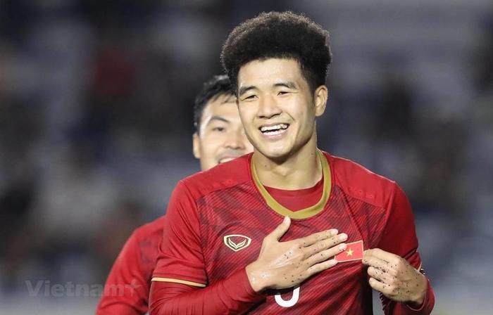 Hà Đức Chinh là cầu thủ được nhiều người quan tâm nhất sau khi U22 Việt Nam vô địch SEA Games 30. (Ảnh: Vietnam+)