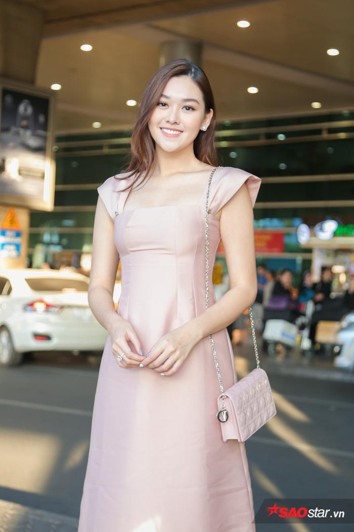 Á hậu Tường San – đại diện Việt Nam tại Miss International 2019. Người đẹp đạt thành tích Top 8 chung cuộc.