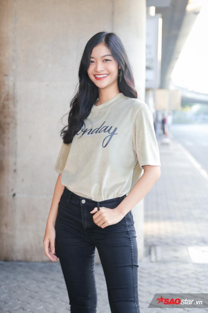 Á hậu Kiều Loan – đại diện Việt Nam tại Miss Grand International 2019. Người đẹp đạt thành tích Top 10 chung cuộc.