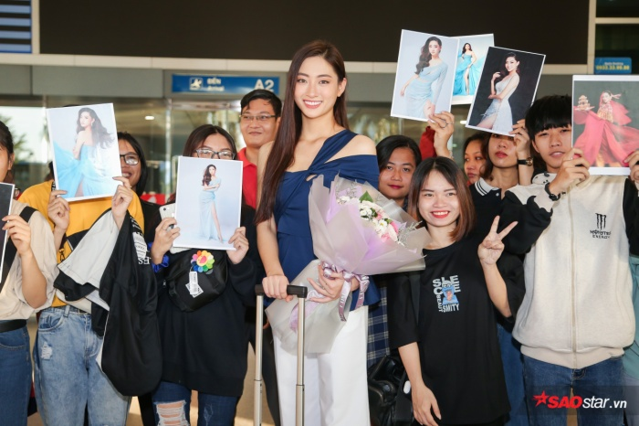 Trở về từ Miss World, Lương Thùy Linh sum họp Kiều Loan  Tường San: 3 nhan sắc in-top vẻ vang ảnh 8