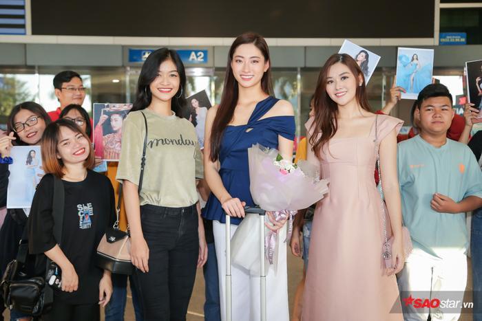 Trở về từ Miss World, Lương Thùy Linh sum họp Kiều Loan  Tường San: 3 nhan sắc in-top vẻ vang ảnh 1