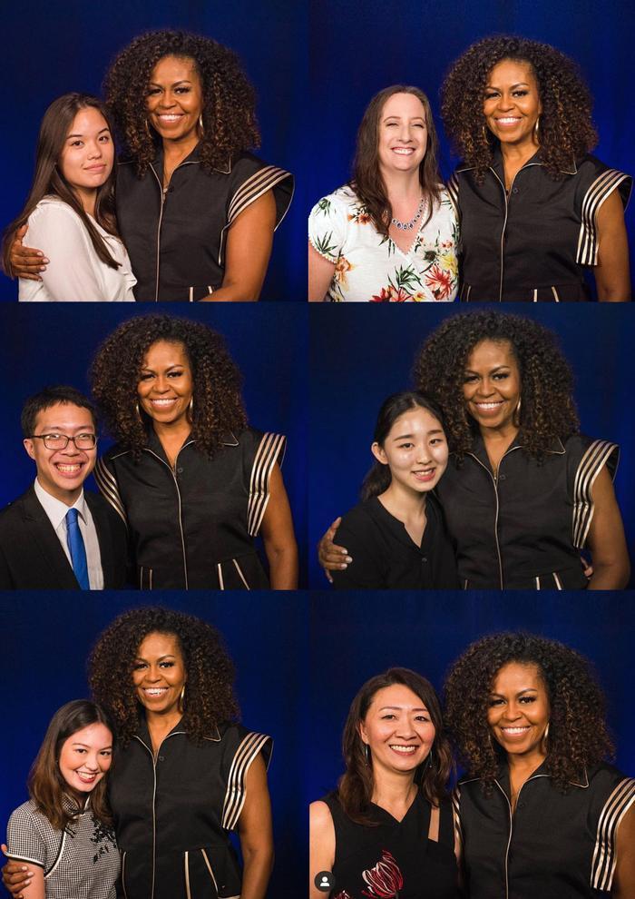 Chỉ trong 2 tháng, cựu đệ nhất Phu nhân Mỹ Michelle Obama đã 2 lần diện trang phục của NTK Công Trí ảnh 1