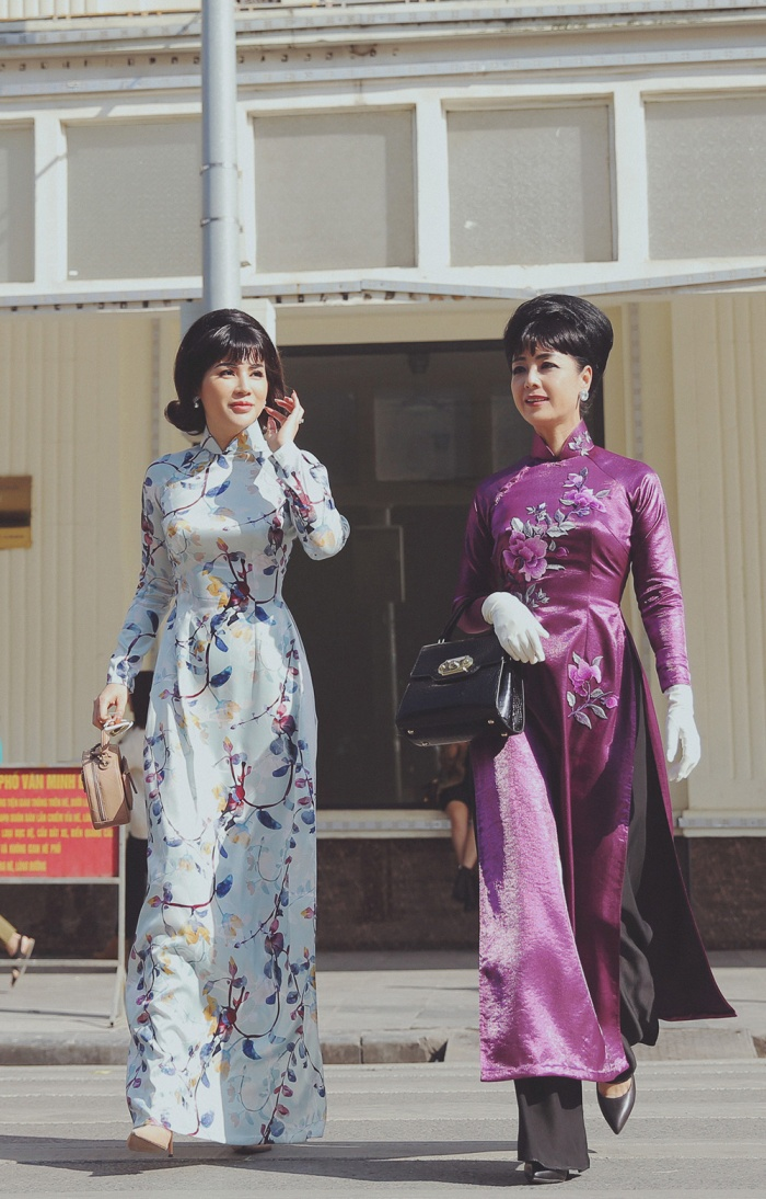NSƯT Chiều Xuân mặc áo dài cổ thuyền, tái hiện hình ảnh Đệ nhất phu nhân Trần Lệ Xuân ảnh 9