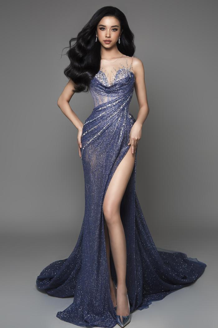 Thúy An đẹp mê mẩn trong 2 thiết kế dạ hội cầu kỳ cho đêm Chung kết Miss Intercontinental 2019 ảnh 4