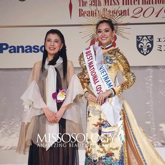 Nguyễn Tường San Top 8 Hoa hậu Quốc tế 2019.
