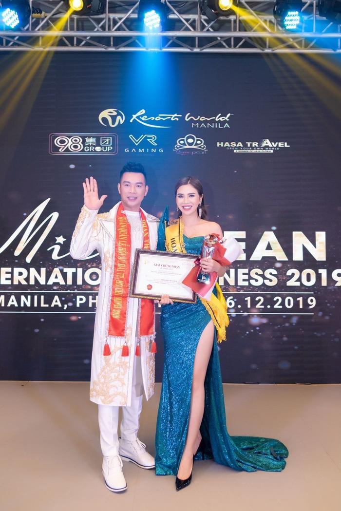 Hoa hậu Du lịch Trần Thị Kim Chi và Nam vương Thanh Phong.