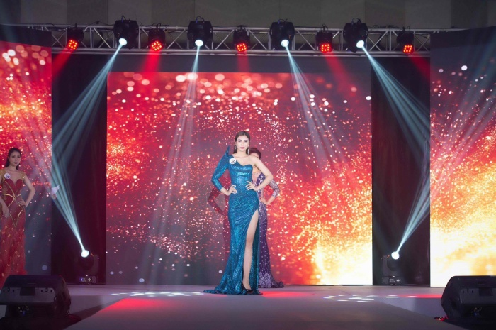 Trần Thị Kim Chi đăng quang Hoa hậu Du lịch Đại dương Doanh nhân quốc tế ảnh 4