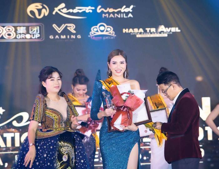 Trần Thị Kim Chi đăng quang Hoa hậu Du lịch Đại dương Doanh nhân quốc tế ảnh 0