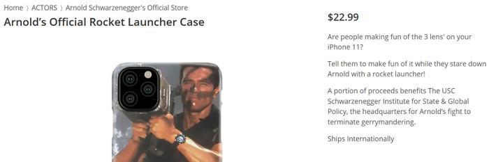 Chiếc ốp lưng chính chủ củaArnold Schwarzenegger được bán với giá 23 USD.