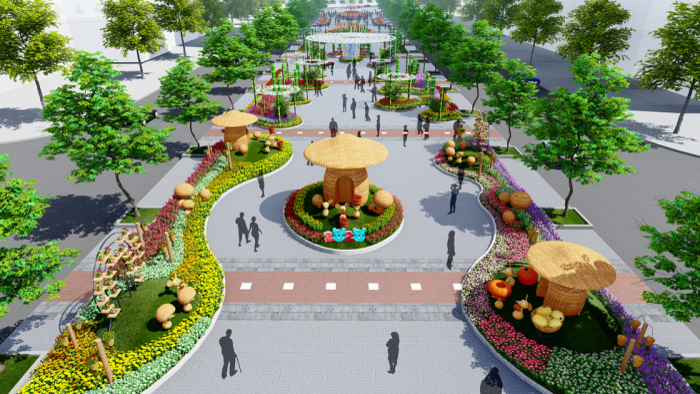 Tổng quan về đường hoa Nguyễn Huệ 2020.