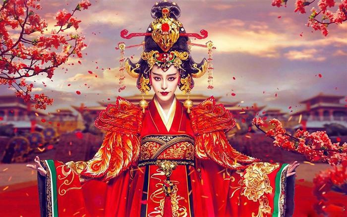 Mỹ nhân Hoa ngữ và màu đỏ vương quyền trong các bộ phim truyền hình ảnh 1