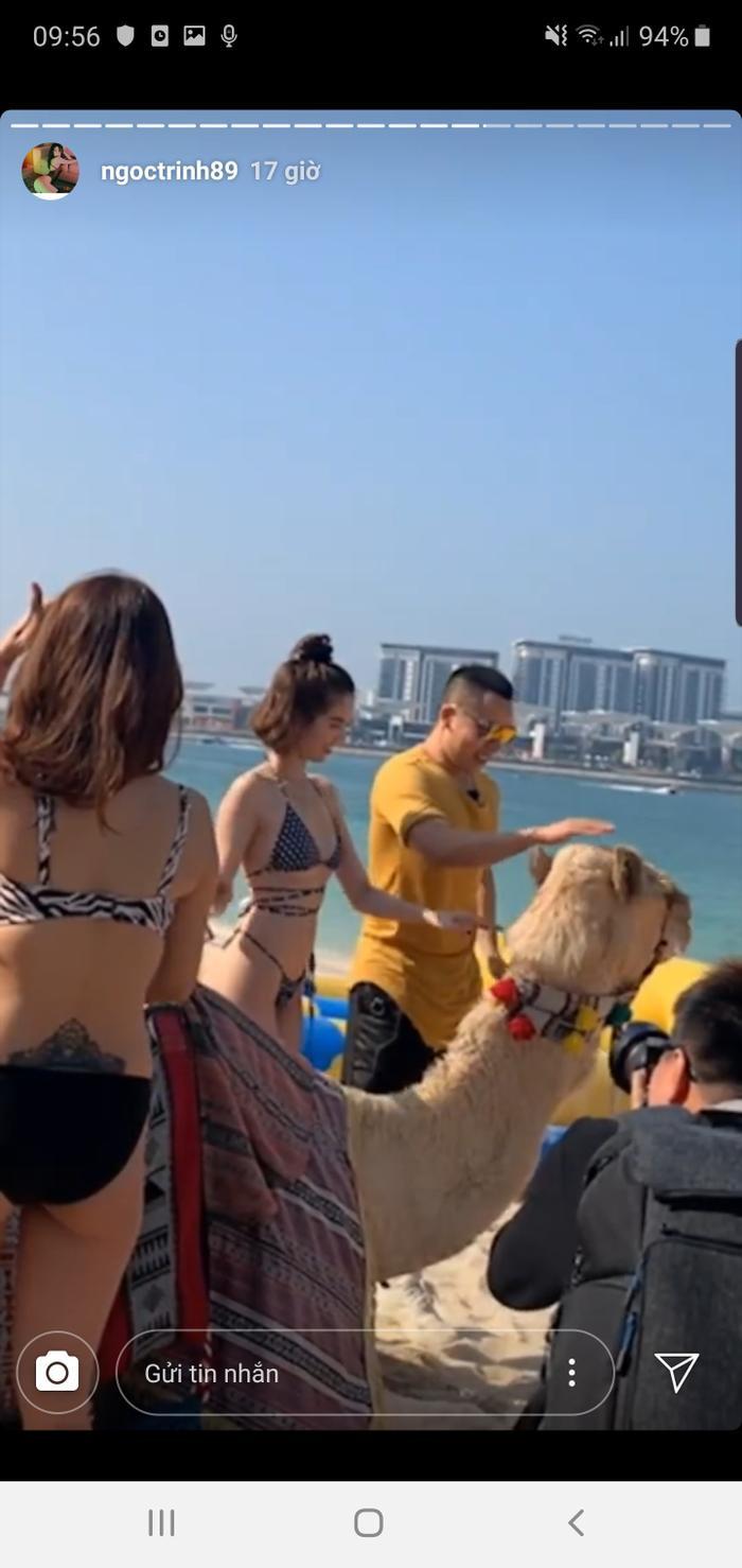 Sau khoảng thời gian làm việc miệt mài, Ngọc Trinh đang tận hưởng những ngày nghỉ tại Dubai.