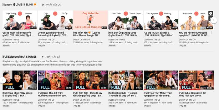Kênh YouTube của Dustin được xây dựng để làm những chương trình do anh tự nghĩ ra, tự sản xuất.