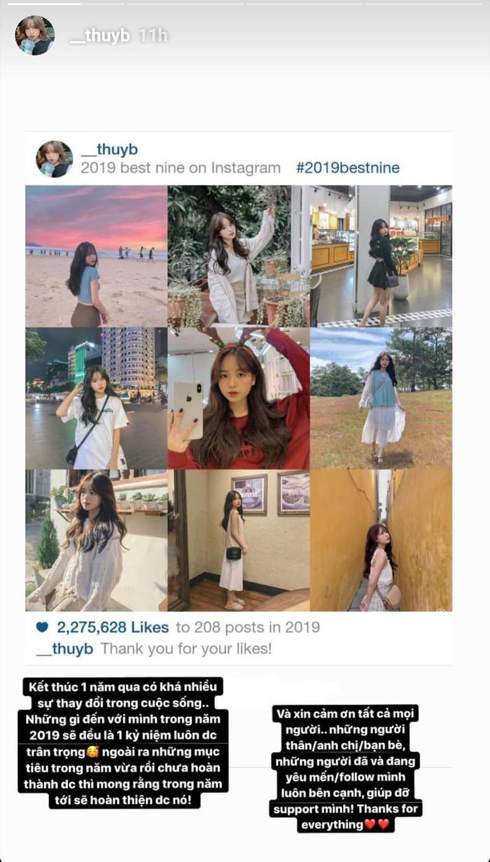 Bài đăng của bạn gái tin đồn Quang Hải vào dịp đầu năm 2020