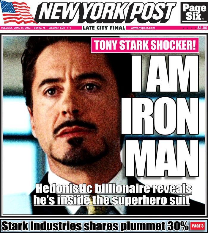 Tony Stark lần đầu công bố danh tính thật của mình
