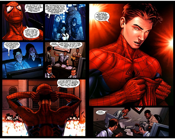 Spider Man tiết lộ thân phận của mình trong sự kiện Civil War
