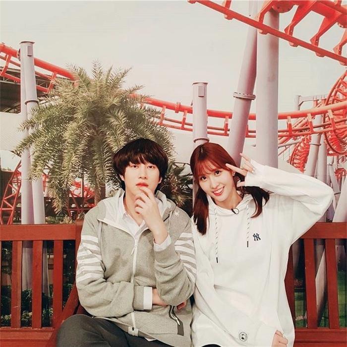 Heechul và Momo.