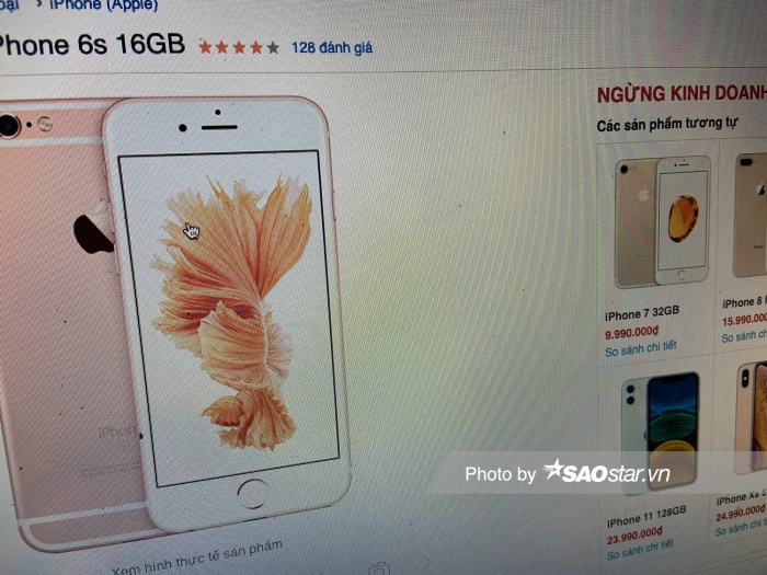 Website một hệ thống lớn dừng bán iPhone 6s.