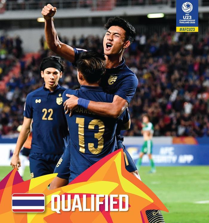 U23 Thái Lan lọt vào tứ kết nhờ cầm hoà được U23 Iraq.