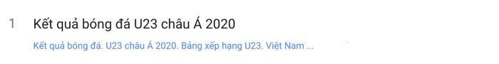 """Từ khóa """"kết quả bóng đá U23 Châu Á 2020"""" vẫn đang tiếp tục là từ khóa được tìm kiếm nhiều nhất vào sáng hôm nay (17/1)."""