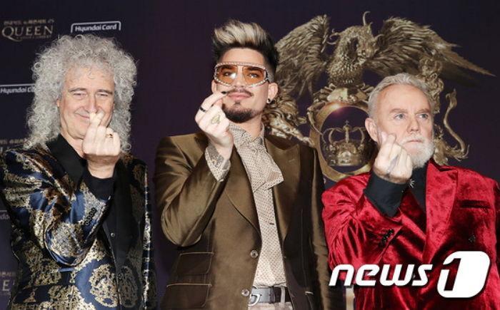 Band nhạc huyền thoại thế giới Queen xuất hiện tại buổi họp báo cùng Adam Lambert