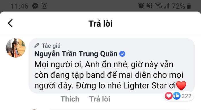 Nguyễn Trần Trung Quân lên tiếng an ủi fan trước ồn ào về phát ngôn động chạm idol Kpop ảnh 1
