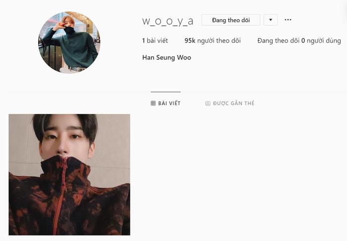 Tài khoản của Han Seung Woo.