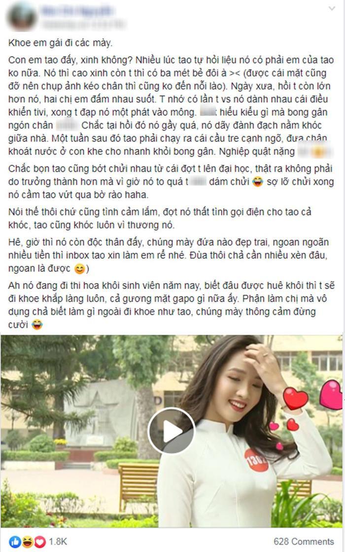 """Dòng """"tâm sự"""" của chị gái Khánh Ly trên một diễn đàn mạng xã hội."""