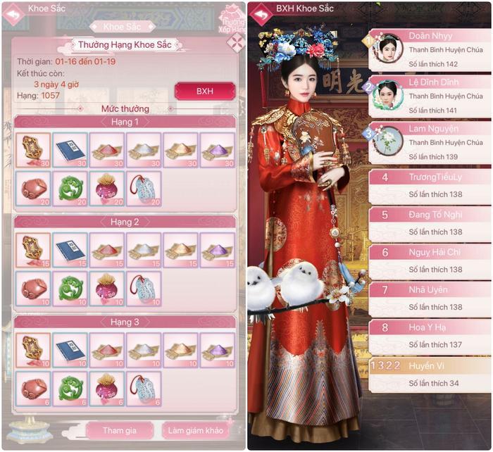 Hàng trăm vật phẩm giá trị sẽ được trao cho người chơi sau khi kết thúc mỗi đợt thi.