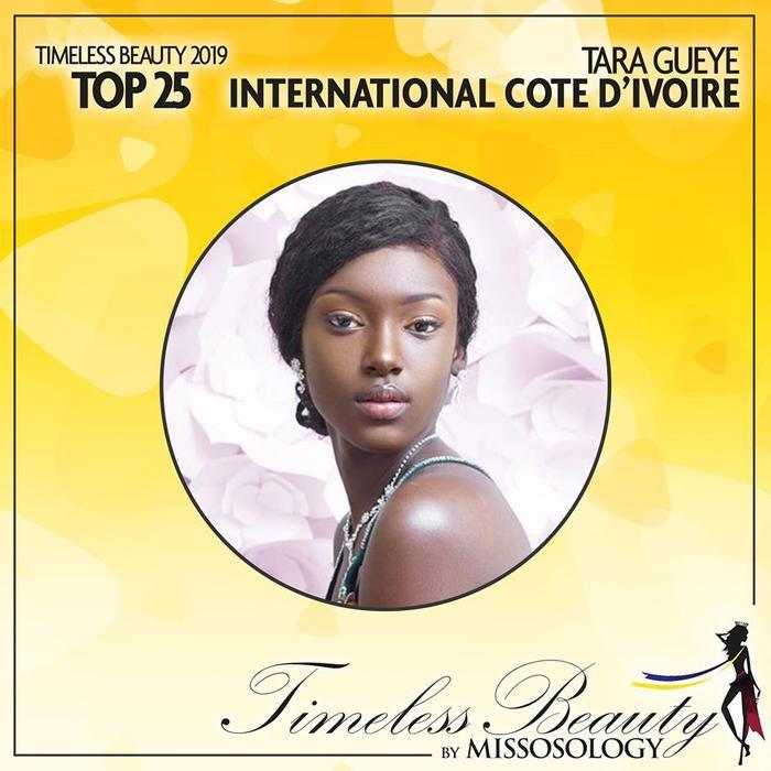 Tara Gueye đại diện cho quê hương Bờ Biển Ngà ở Miss International 2019 nhưng không đạt thành tích dù được đánh giá khá cao.