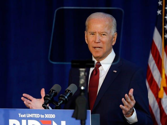 Cựu Phó Tổng thống Mỹ đồng thời là ứng viên Tổng thống của đảng Dân chủ Joe Biden. (Ảnh: AP)
