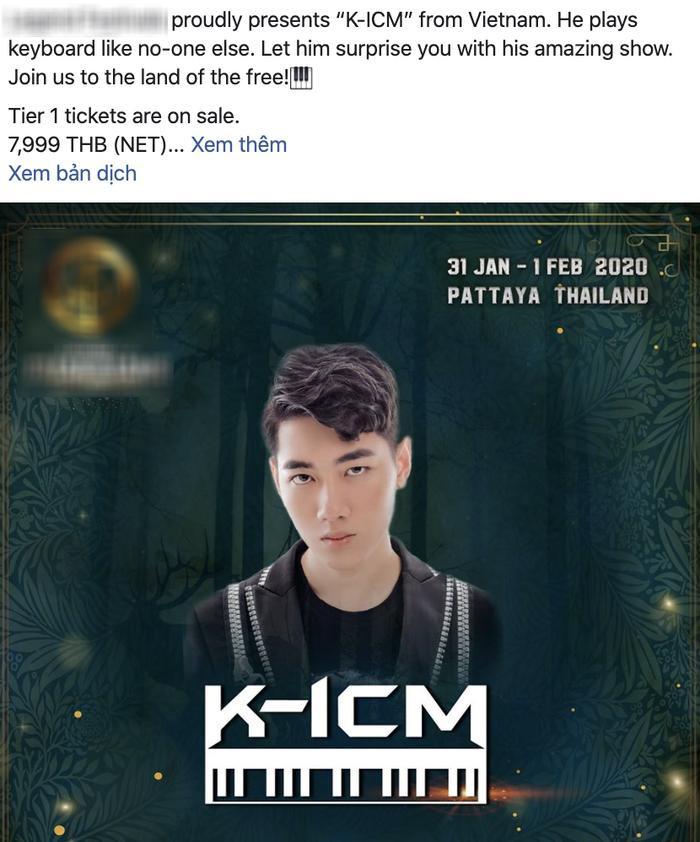 Lễ hội EDM mở đầu thập kỷ lớn nhất Thái Lan xác nhận K-ICM sẽ góp mặt trong đêm diễn của mình hôm 31/1 – 1/2/2020.(Ảnh chụp màn hình)