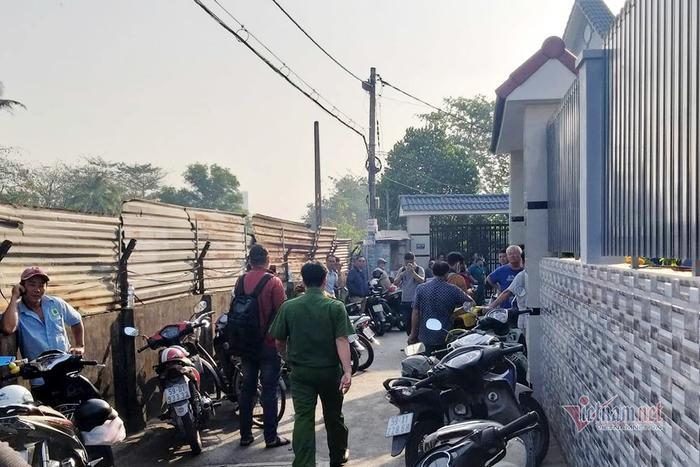 Con hẻm nhỏ nơi xảy ra vụ cháy 5 người một nhà tử vong. Ảnh: báo Vietnamnet