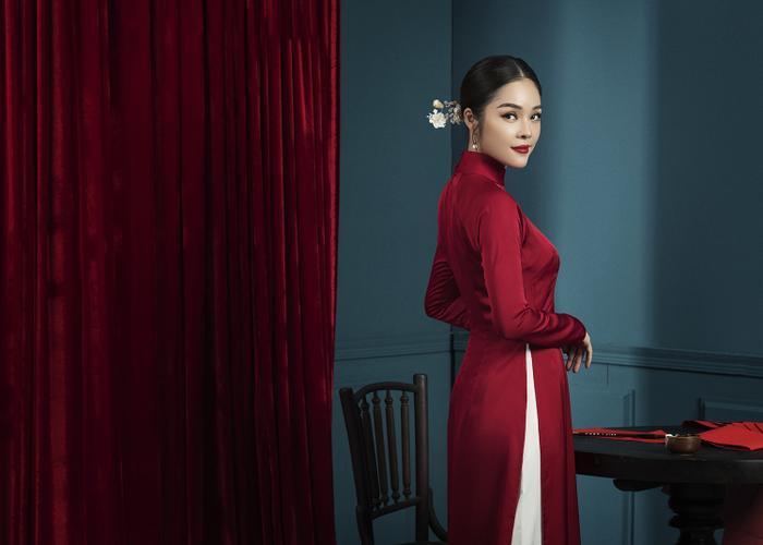 Mẹ con Dương Cẩm Lynh diện áo dài cực xinh trước thềm xuân Canh Tý 2020 ảnh 11