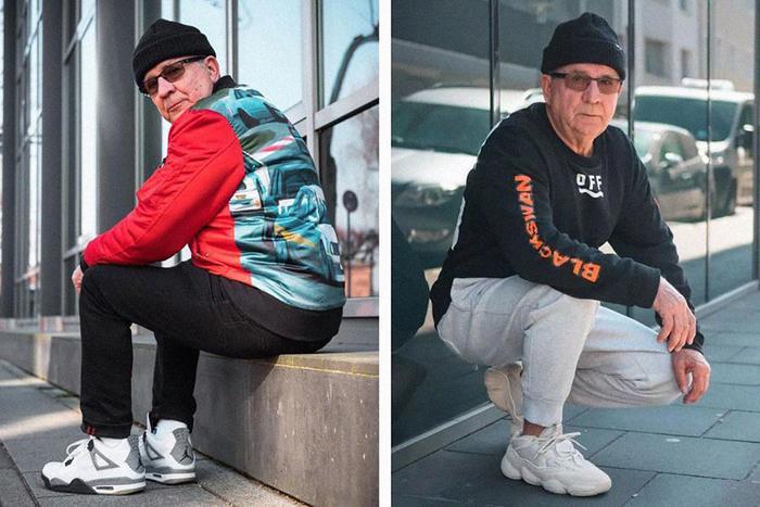 """Cụ ông người Đức, 73 tuổi gây sốt Instagram nhờ guthời trang """"chất phát ngất"""" của mình.(Ảnh: @jaadiee Instagram)"""