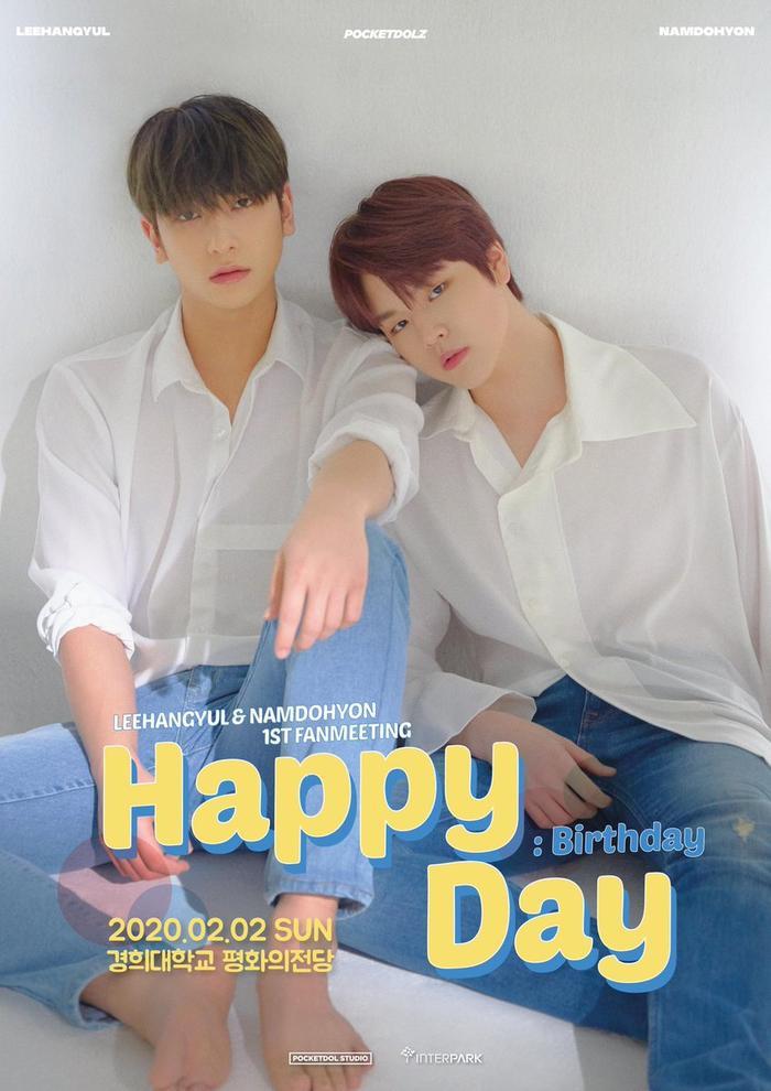 """Trước đó, hai thành viên khác của X1 là Lee Han Gyul và Nam Do Hyun cũng đã thông báo về buổi họp fan mang tên """"Happy: Birthday Day"""" vào ngày 02/02 tại đại học Kyung Hee."""
